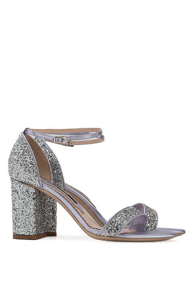 Sandale din piele cu glitter Mihai Albu imagine 1