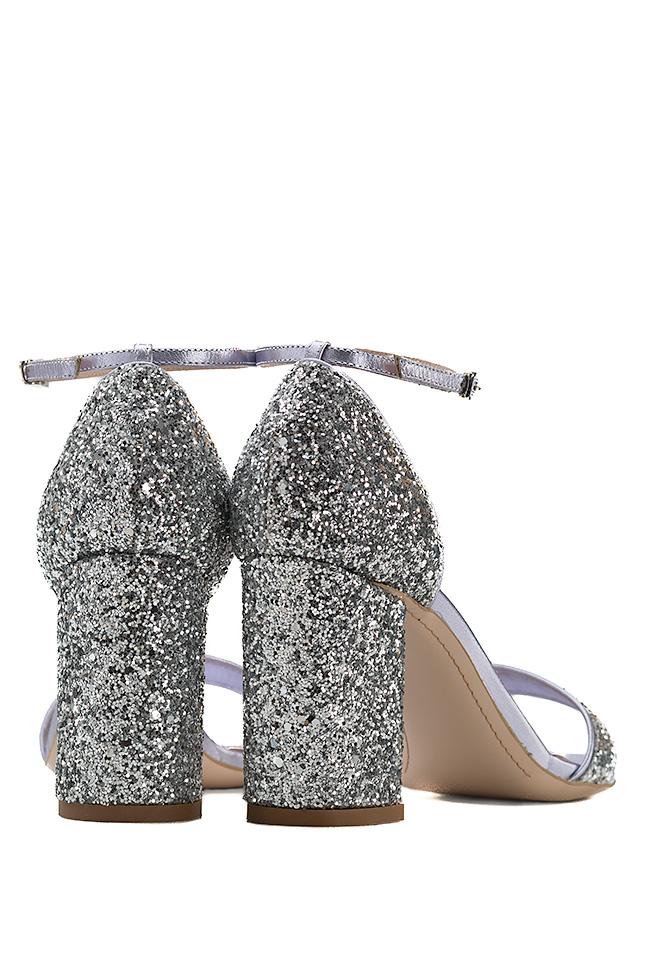 Sandale din piele cu glitter Mihai Albu imagine 2