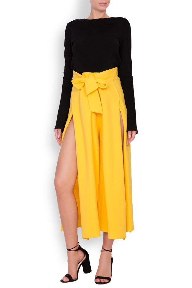 Pantaloni din bumbac cu slituri laterale Adelyn Shakara imagine 0