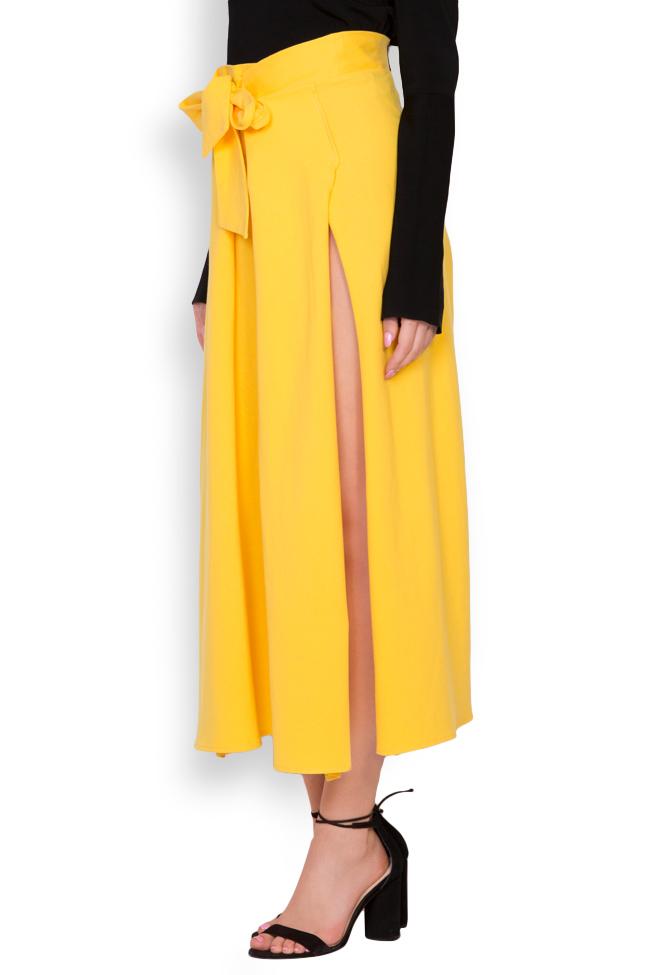 Pantaloni din bumbac cu slituri laterale Adelyn Shakara imagine 1