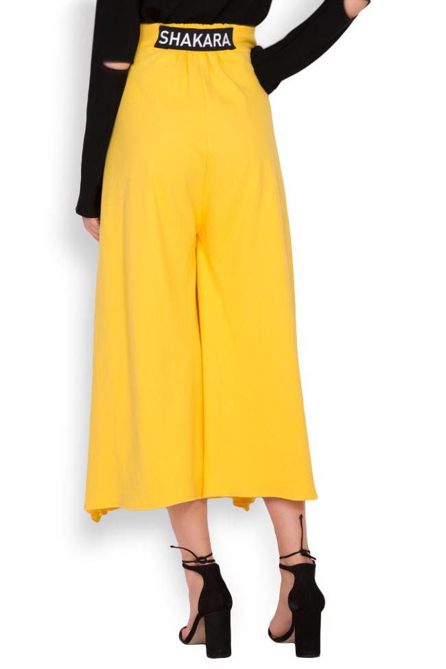 Pantaloni din bumbac cu slituri laterale Adelyn Shakara imagine 2