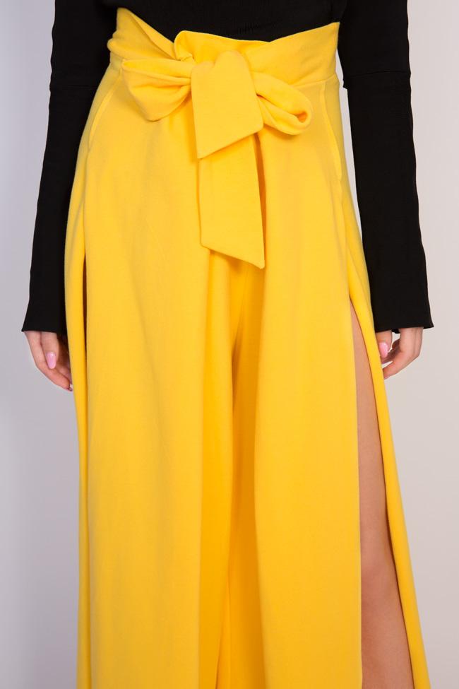 Pantaloni din bumbac cu slituri laterale Adelyn Shakara imagine 3