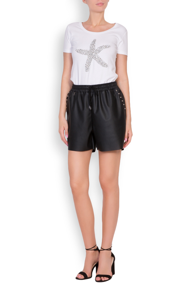 Valencia studded faux leather shorts Shakara image 0