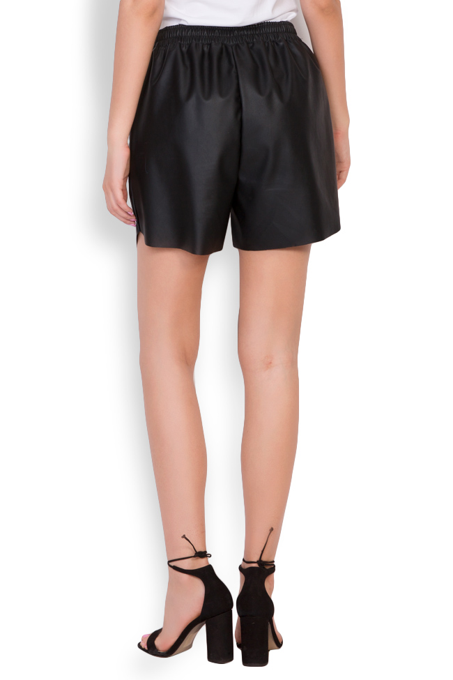 Valencia studded faux leather shorts Shakara image 2