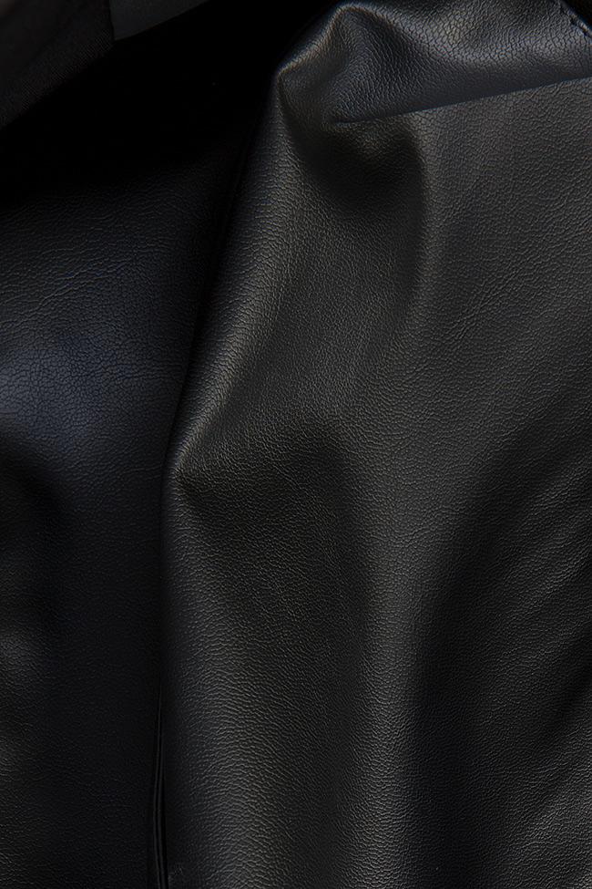 Abella faux leather studded oversized open-back vest Shakara image 4