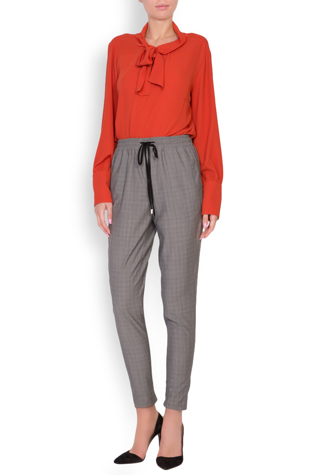 Gabrielle checked cotton-blend track pants Shakara image 0