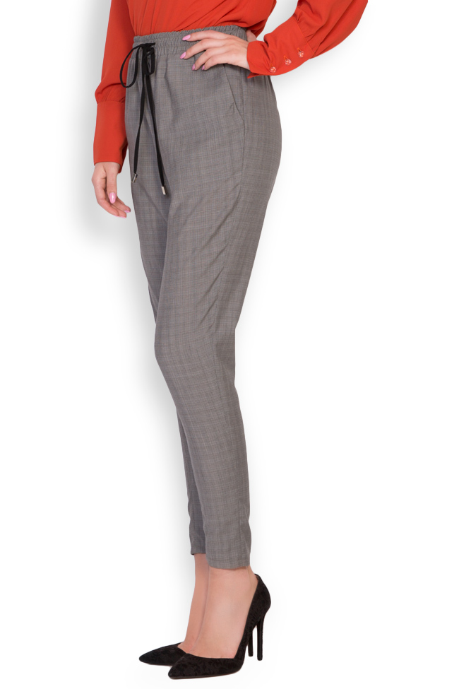 Gabrielle checked cotton-blend track pants Shakara image 1