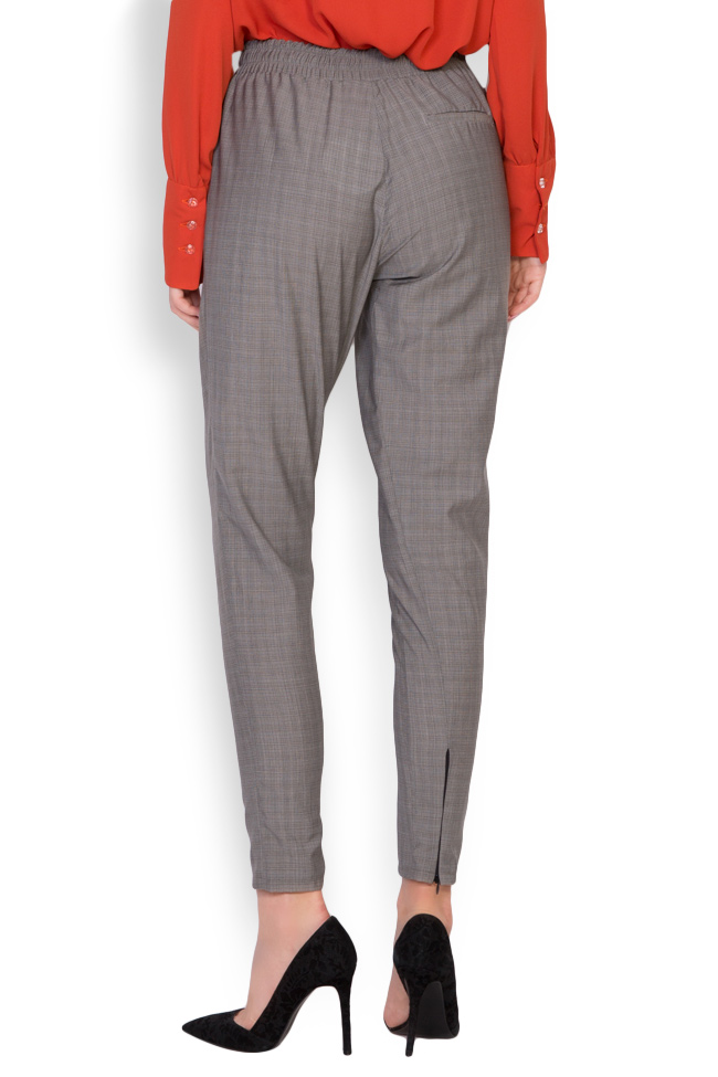 Gabrielle checked cotton-blend track pants Shakara image 2