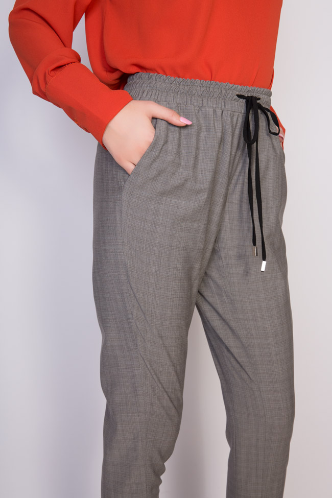 Gabrielle checked cotton-blend track pants Shakara image 3