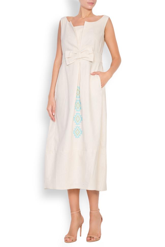 Bow cotton midi dress Maressia image 0