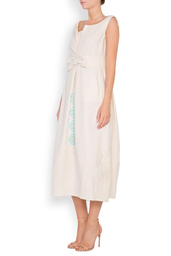 Bow cotton midi dress Maressia image 1