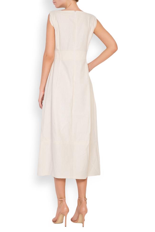 Bow cotton midi dress Maressia image 2