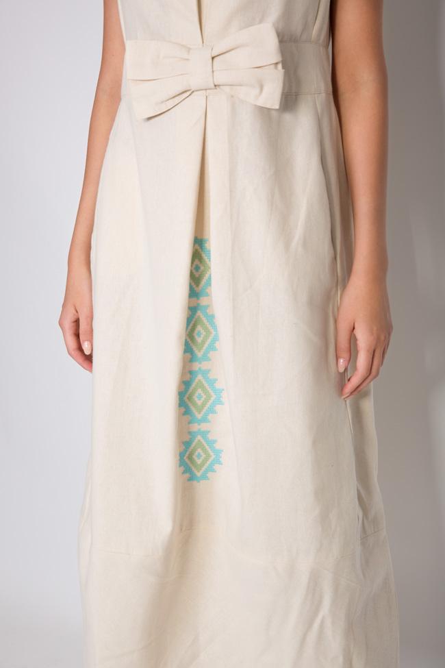Bow cotton midi dress Maressia image 3