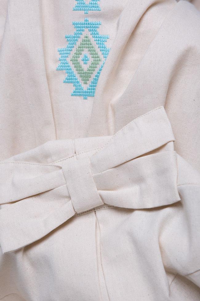 Bow cotton midi dress Maressia image 4