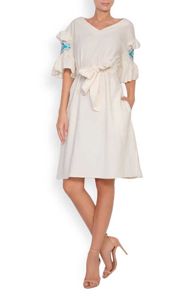 Robe en coton brodée avec fil de soie Maressia image 0