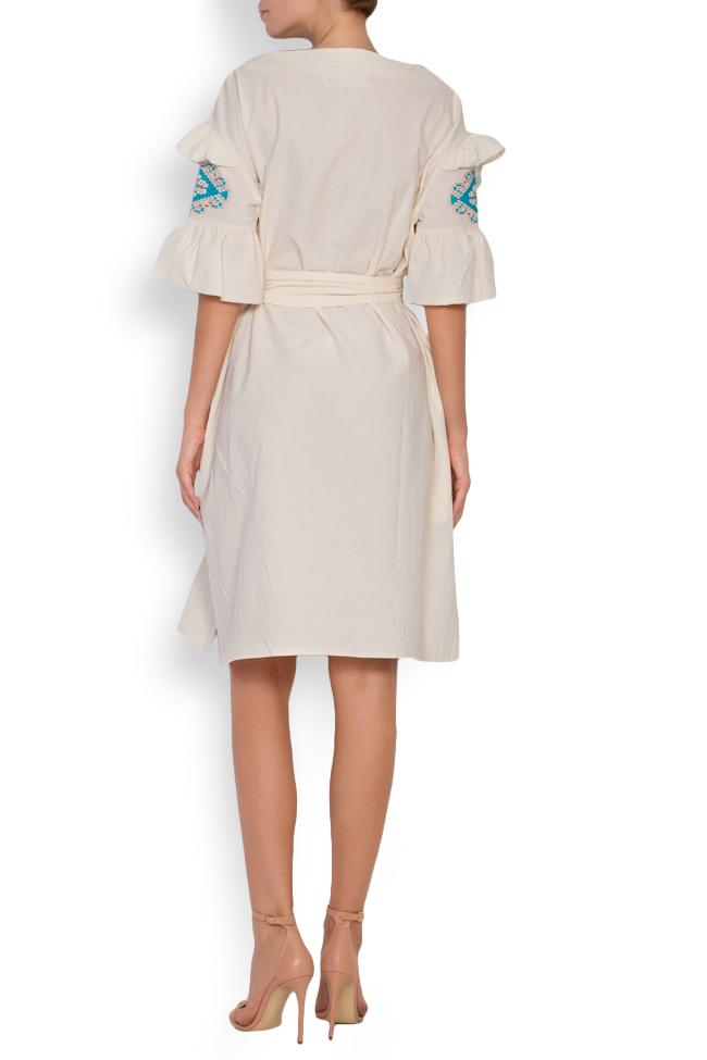 Robe en coton brodée avec fil de soie Maressia image 2