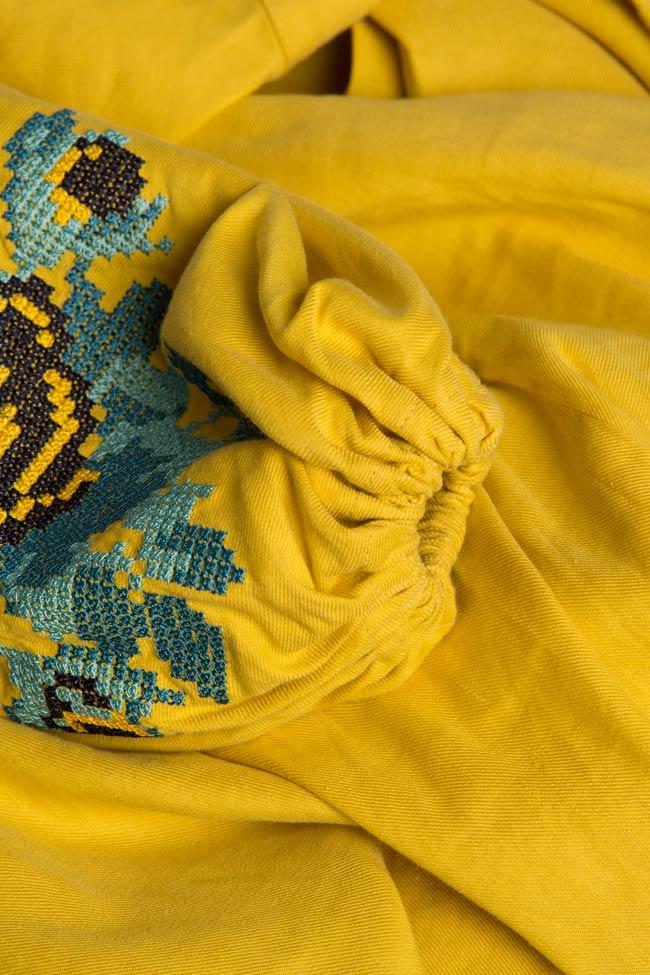 Combinaison asymétrique en soie brodée Maressia image 4