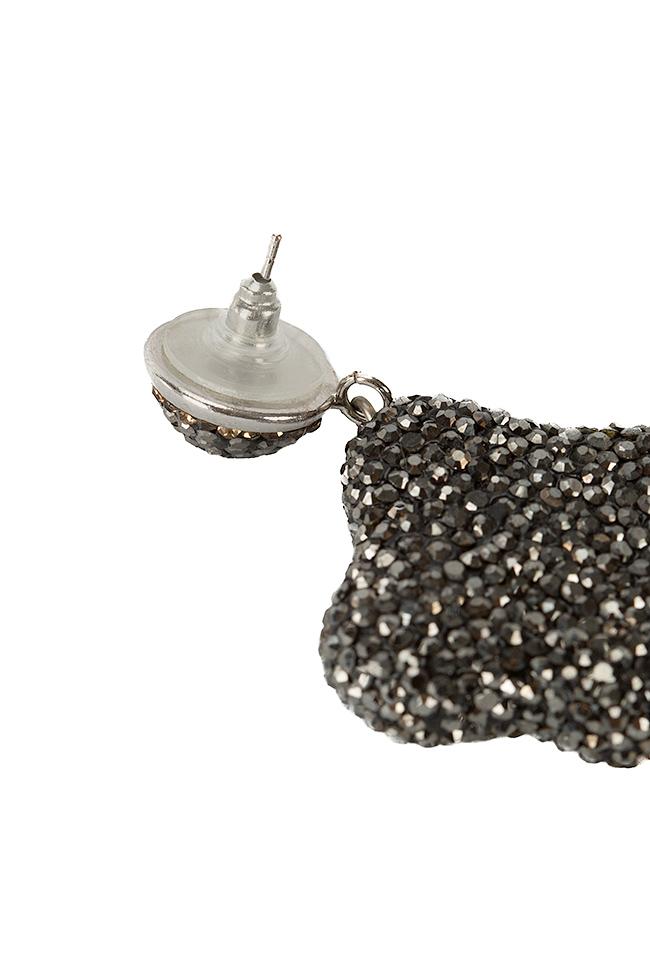 Cercei cu zirconii si perle de cultura Divine Bon Bijou imagine 2
