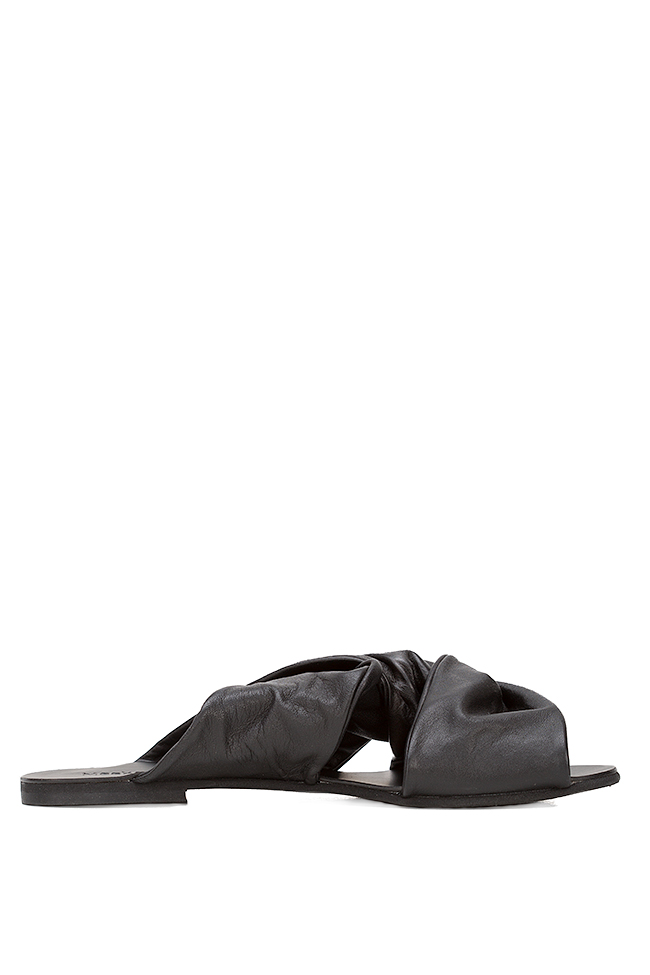 Leather slides Mihaela Gheorghe image 0