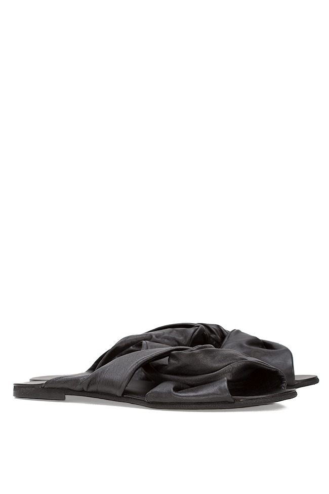 Leather slides Mihaela Gheorghe image 1