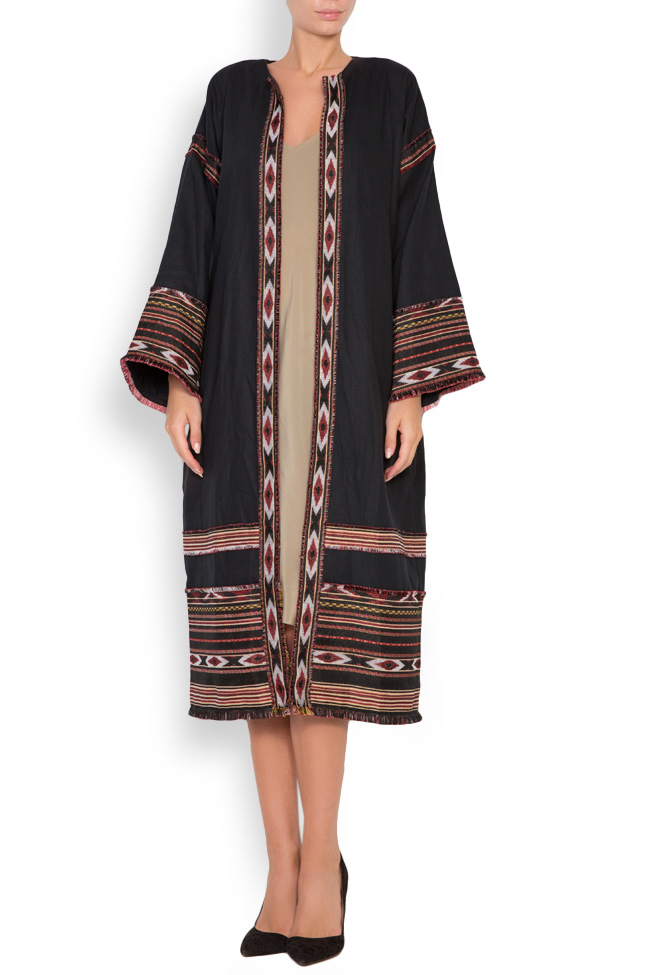 Embroidered cotton kaftan Maressia image 0