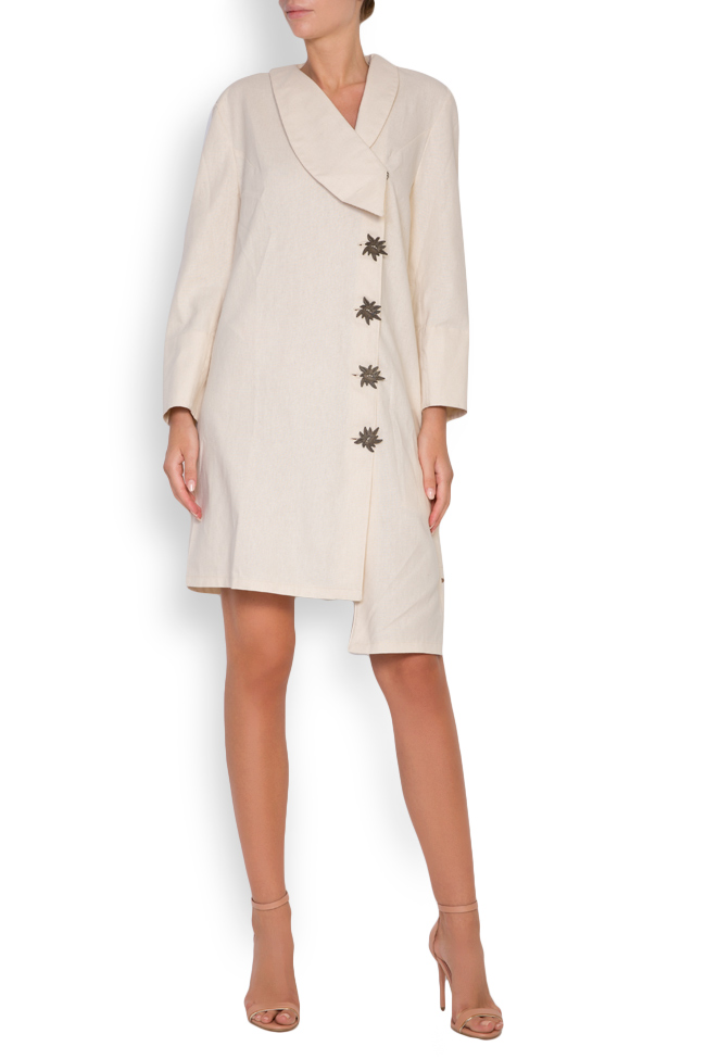 Asymmetric embroidered cotton blazer dress Maressia image 0