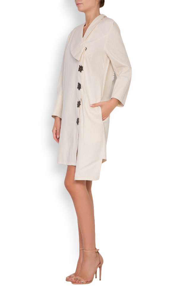 Asymmetric embroidered cotton blazer dress Maressia image 1