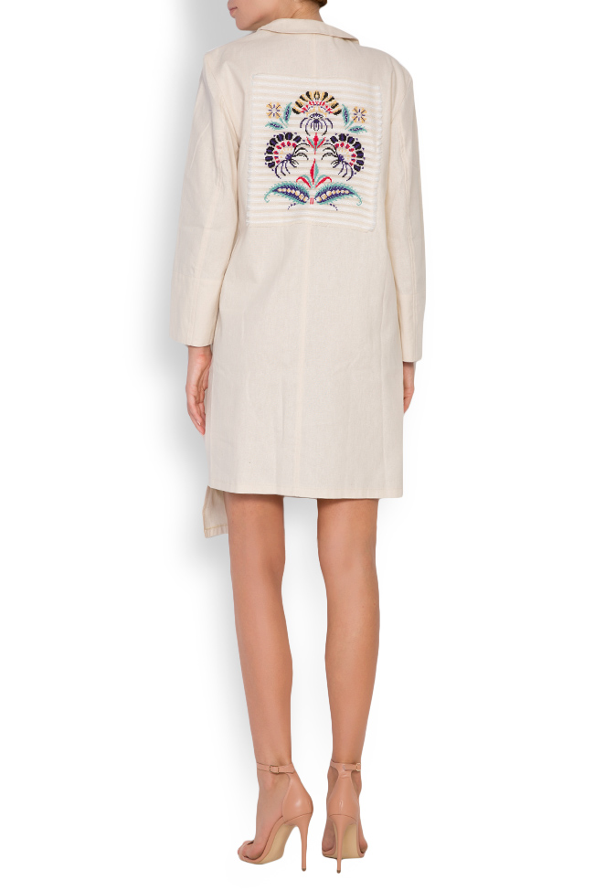 Asymmetric embroidered cotton blazer dress Maressia image 2