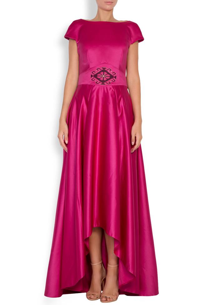 Open-back asymmetric silk-taffeta gown Maressia image 0