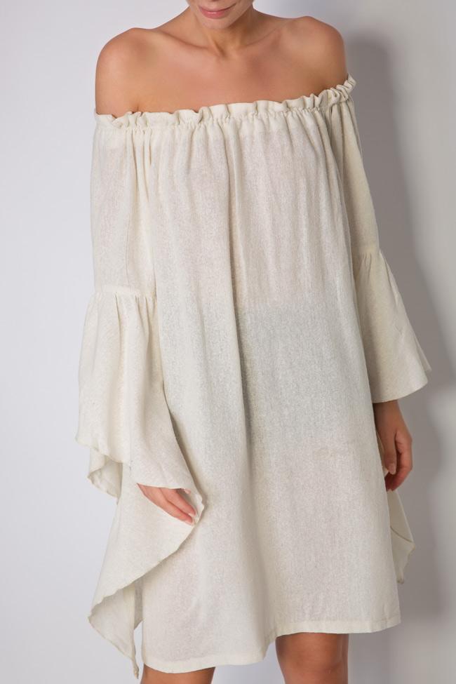 Robe en voile de coton avec les épaules dénudées Maressia image 3