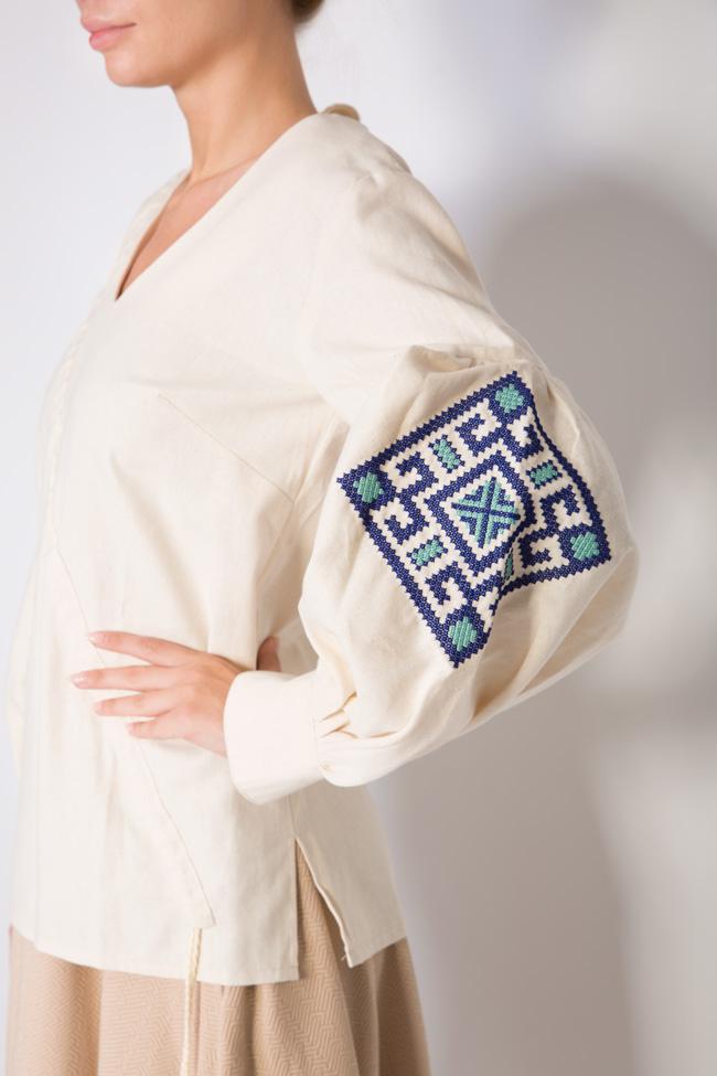 Blouse brodée en coton Maressia image 3