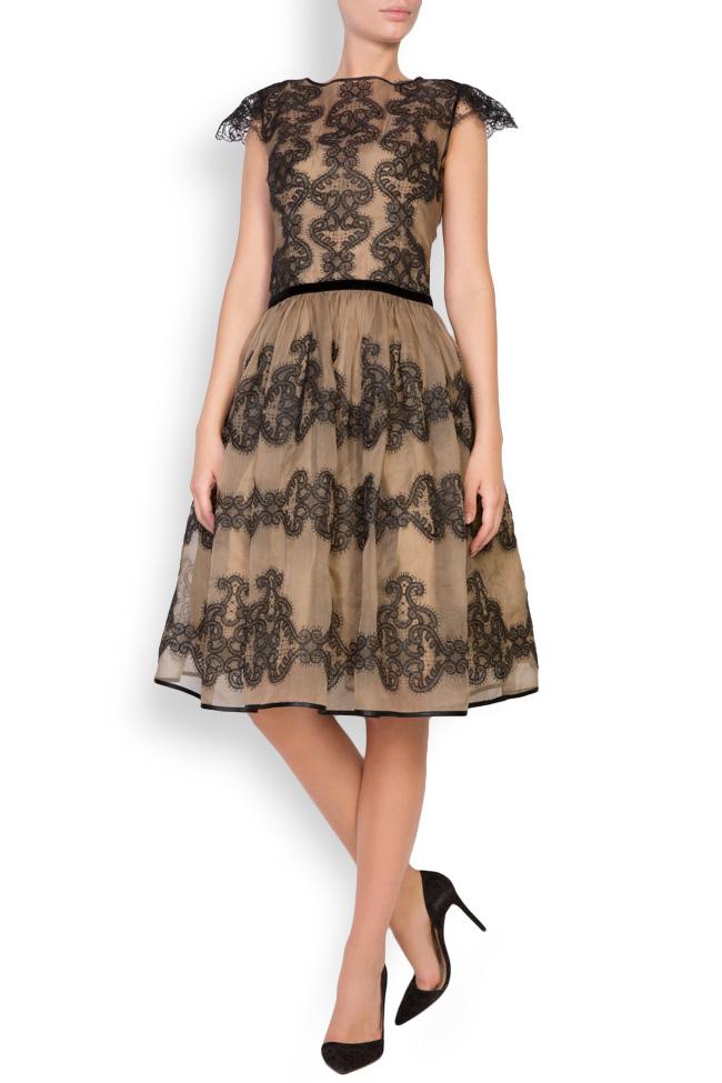 Amira silk-organza lace maxi dress Cosmina Englizian image 0