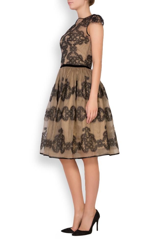 Amira silk-organza lace maxi dress Cosmina Englizian image 1