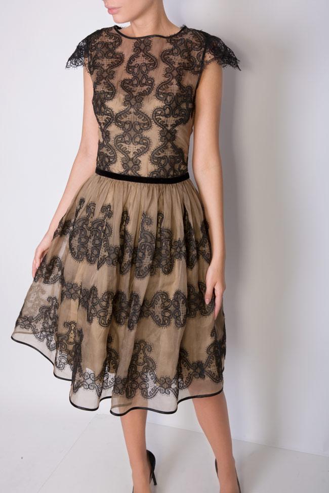 Amira silk-organza lace maxi dress Cosmina Englizian image 3