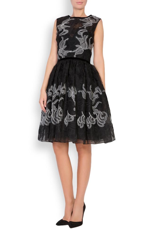 Calissa silk-organza lace maxi dress Cosmina Englizian image 0