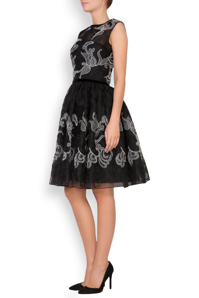 Calissa silk-organza lace maxi dress Cosmina Englizian image 1