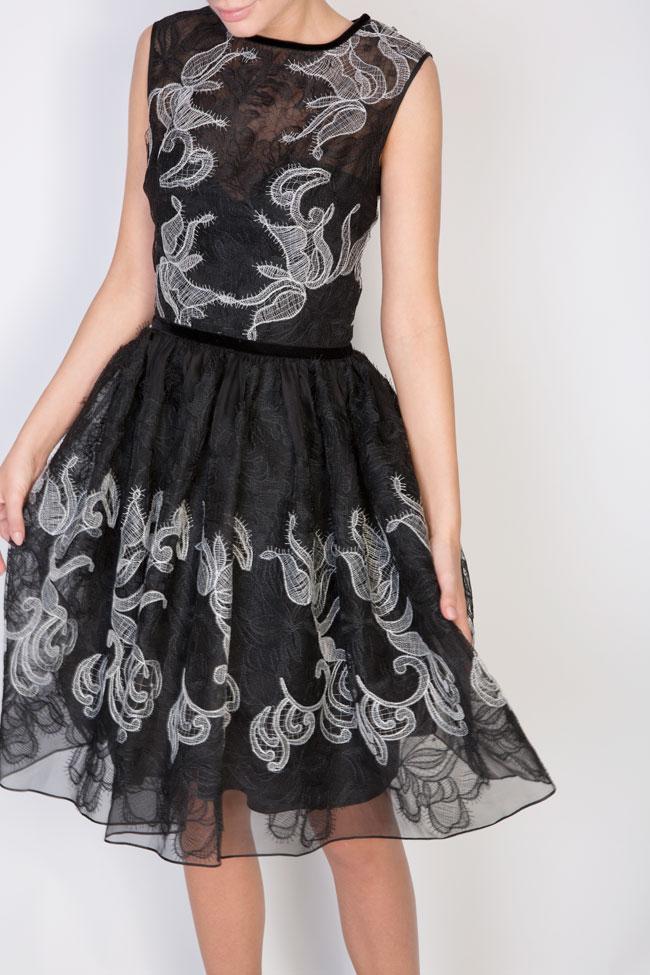 Calissa silk-organza lace maxi dress Cosmina Englizian image 3