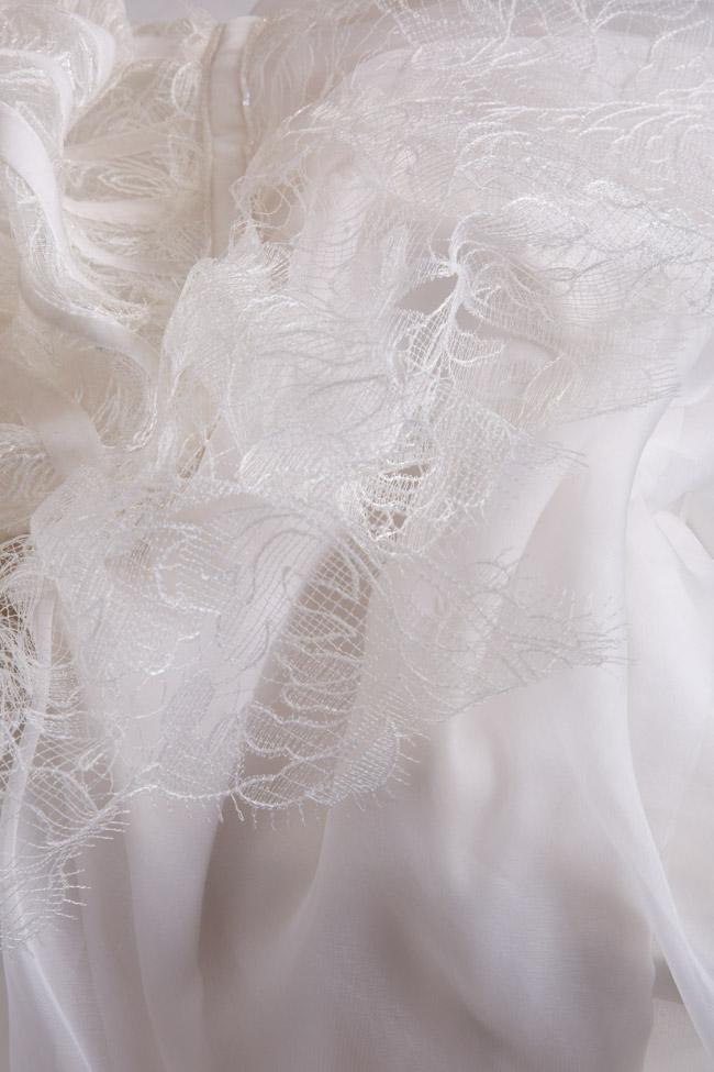 Dyna silk and Chantilly lace midi dress Cosmina Englizian image 4