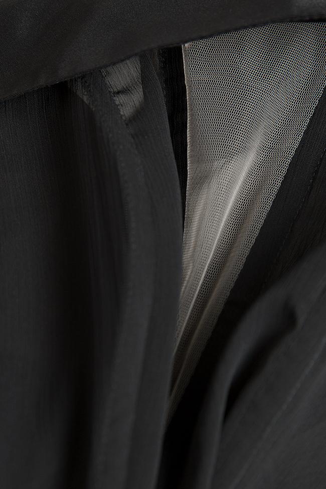 Body en taffetas et voile avec insertions de tulle Monarh image 4