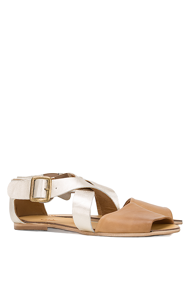 Metallic leather sandals Mihaela Gheorghe image 1