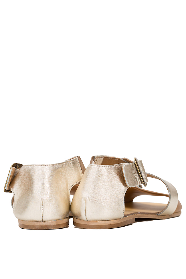 Metallic leather sandals Mihaela Gheorghe image 2
