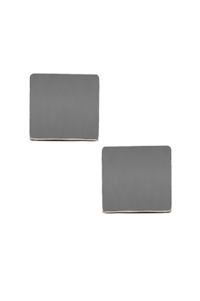 Cercei din argint Platitude Monom imagine 0