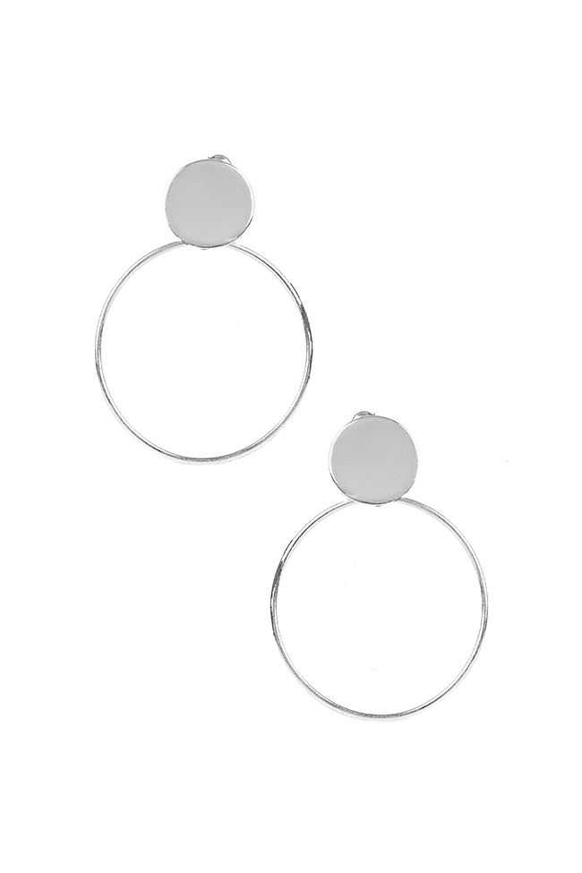 Platitude Double Circle silver earrings Monom image 0