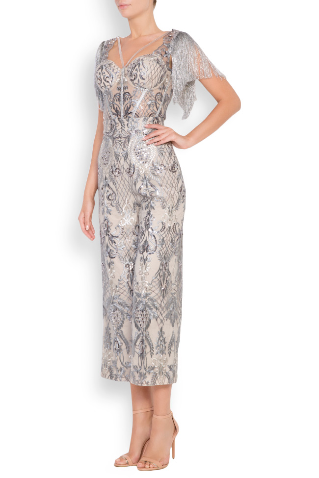 Emma fringed lace tulle deux-pieces Mariana Ciceu image 2
