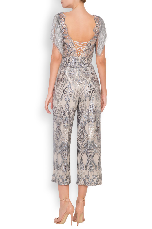 Emma fringed lace tulle deux-pieces Mariana Ciceu image 1