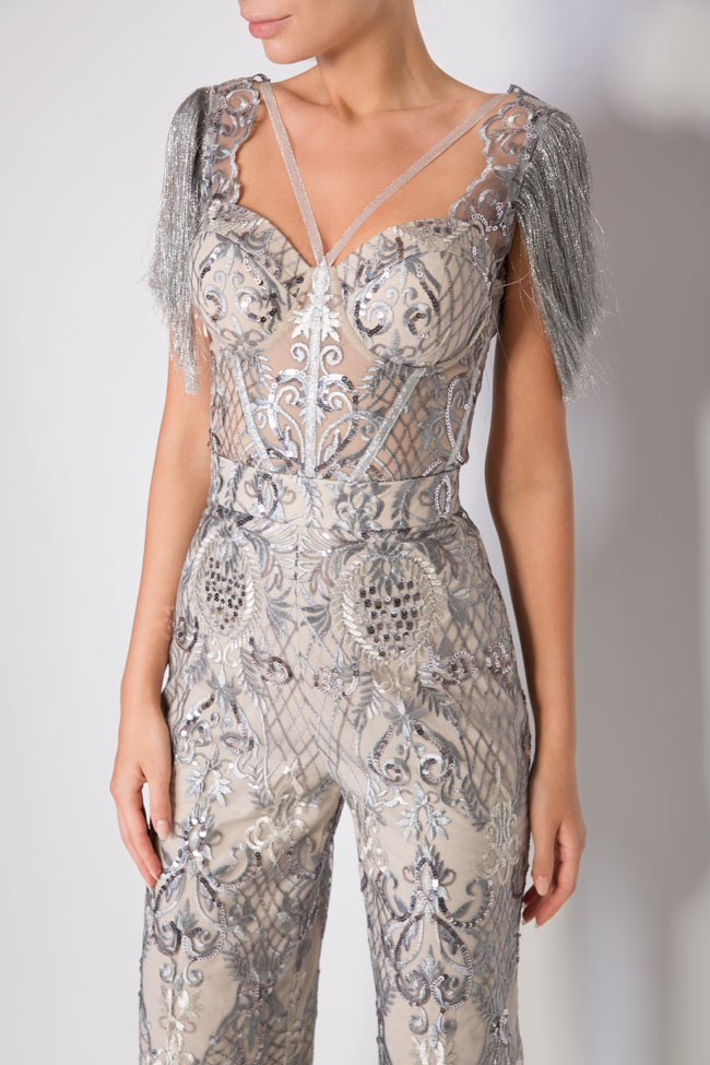 Emma fringed lace tulle deux-pieces Mariana Ciceu image 3