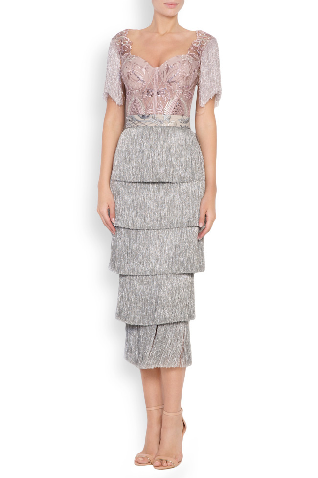 Nathalie fringed lace and tulle deux-pieces Mariana Ciceu image 0
