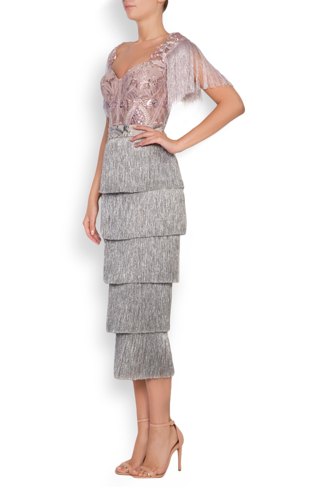 Nathalie fringed lace and tulle deux-pieces Mariana Ciceu image 1