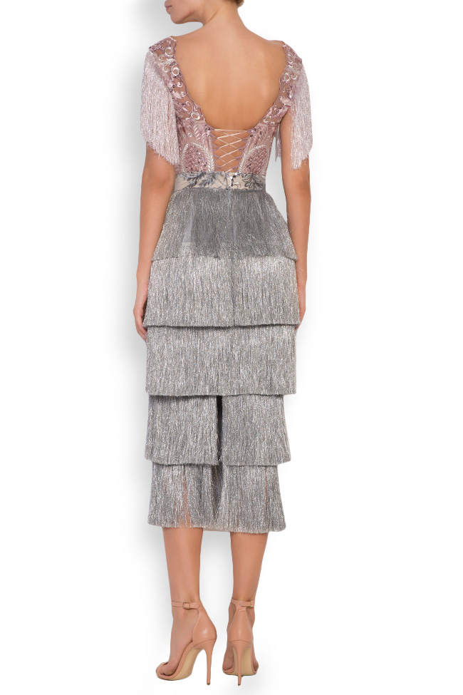 Nathalie fringed lace and tulle deux-pieces Mariana Ciceu image 2