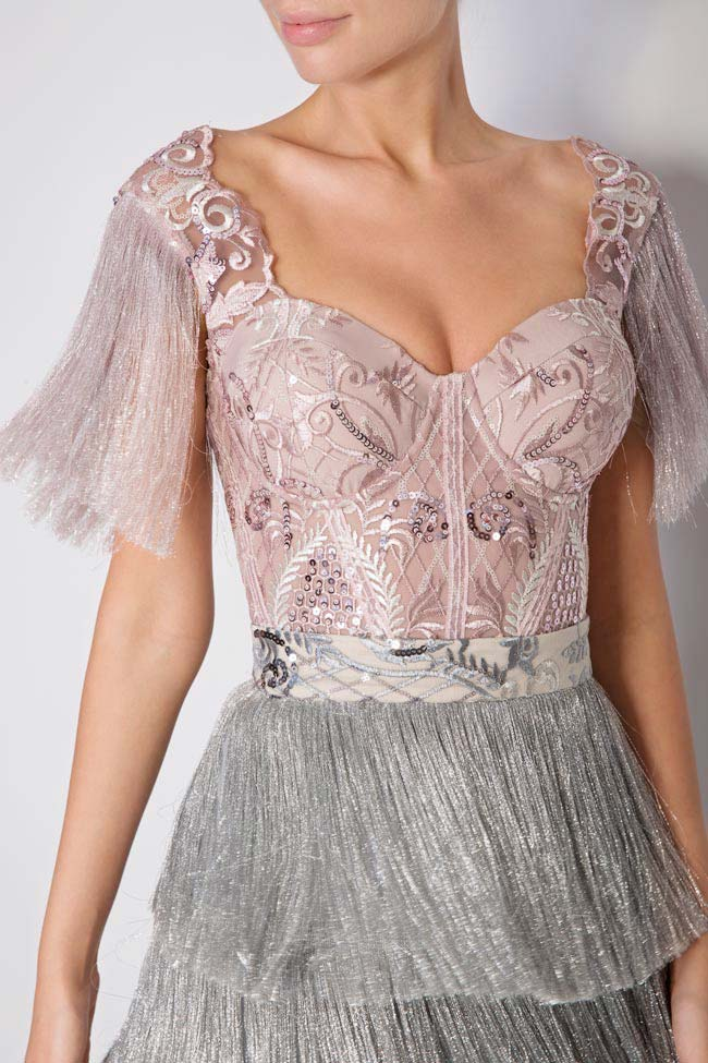 Nathalie fringed lace and tulle deux-pieces Mariana Ciceu image 3